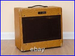 1954 Fender Tweed Deluxe 5D3 Vintage Tube Amp 1x12 with Jensen P12R & Cover