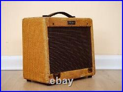1955 Fender Princeton Tweed Small Box Vintage Class A Tube Amp 5E2, 1x8 Jensen