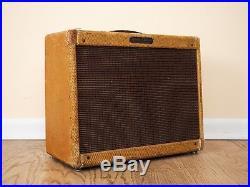1956 Fender Deluxe Tweed Pre-CBS Narrow Panel Vintage Tube Amplifier 5E3 Circuit