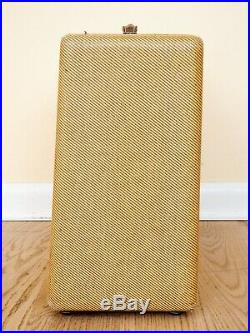 1957 Fender Princeton Tweed Vintage Tube Amp Narrow Panel Big Box with Cover