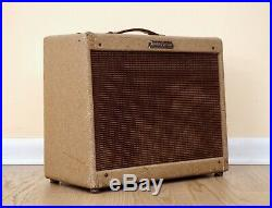 1958 Fender Deluxe Tweed Vintage Tube Amp 5E3 Circuit, Factory Brown/Oxblood