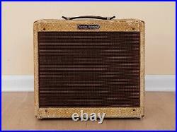 1958 Fender Harvard Narrow Panel Tweed 5F10 Vintage Pre-CBS Tube Amp Jensen P10R