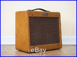 1959 Fender Champ Tweed Vintage Tube Amplifier Pre-CBS Class A 5F1 Circuit
