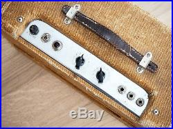 1959 Fender Harvard Narrow Panel Tweed 5F10 Vintage Pre-CBS Tube Amp Jensen P10R