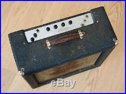 1960 Ampeg Guitaramp 518 Dolphin Special Vintage Tube Amp 1x12 Navy Random Flair