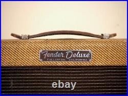 1960 Fender Deluxe Tweed Pre-CBS Narrow Panel Vintage Tube Amp 5E3, Jensen P12R