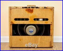 1960 Gibson GA-80T Varitone Vintage Tweed 1x15 Tube Guitar Amp Jensen P15P