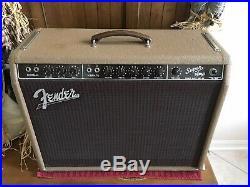 1961 Fender Super Vintage Tube Amp Pre-CBS Brownface 2x10 Jensen P10Q, 6G4