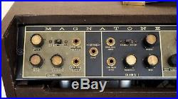1961 Magnatone Custom 480 Venus Estey Vintage Stereo Tube Amp 2x12