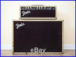 1962 Fender Bassman 6G6B Blonde Brownface Vintage Piggyback Tube Amp Jensen C12N