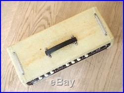 1962 Fender Bassman 6G6-B Blonde Brownface Vintage Pre-CBS Piggyback Tube Amp