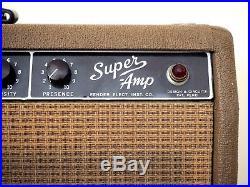 1962 Fender Super Vintage Tube Amp Pre-CBS Brownface 2x10 Jensen P10Q, 6G4-A