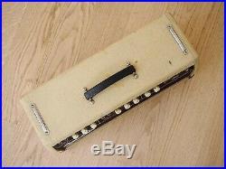 1962 Fender Tremolux Brownface Vintage Pre-CBS Tube Amp Head, Blonde & Oxblood