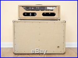 1962 Fender Tremolux Vintage Blonde Brownface Piggyback Tube Amp with Oxford 10s