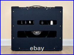 1963 Ampeg Reverberocket R-12R Vintage Tube Amp Blue Diamond, Jensen C12R, Ftsw
