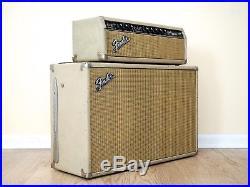 1964 Fender Bandmaster Pre-CBS Blackface Blonde Vintage Piggyback Tube Amp