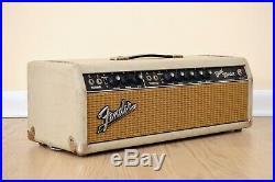 1964 Fender Bandmaster Pre-CBS Vintage Tube Amp Head Blackface Blonde