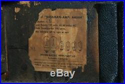 1964 Vintage Fender Blackface Bassman Tube Guitar Amp AA864