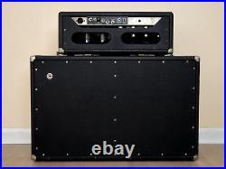 1965 Fender Bassman Black Panel Piggyback Vintage Tube Amp Head & 2x12 Cab AA165