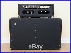 1965 Fender Bassman Blackface Piggyback Vintage Tube Amp Head & 2x12 Cab, AA165