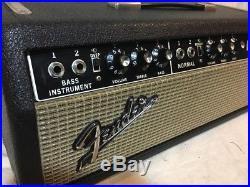 1965 Fender Bassman PiggyBack 50 Watt 2x12 Vintage Tube Amp EXCELLENT