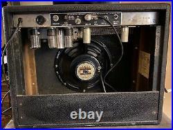 1965 Fender Princeton Amp All Tube 1x10 12 Watt Combo Blackface Vintage Guitar