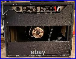 1965 Fender Princeton Reverb All Tube 1x10 12 Watt Combo Vintage Guitar Amp