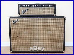 1966 Fender Dual Showman Vintage Blackface Fender Tube Amplifier 2x15, JBL D140F