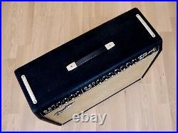 1966 Fender Twin Reverb Blackface Vintage Tube Amp 2x12 Jensen C12N, Footswitch