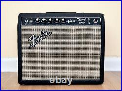 1966 Fender Vibro Champ Vintage Blackface Tube Amp Class A, Serviced