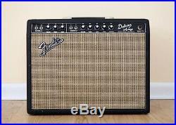 1967 Fender Deluxe Non-Reverb 1x12 Vintage Blackface Tube Amp, AB763