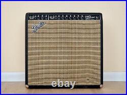 1967 Fender Super Reverb Blackface Vintage Tube Amp 4x10 CTS Alnico, Serviced