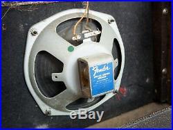 1967 Fender Vibro Champ Vintage Blackface Tube Amp Class A Circuit 1x8