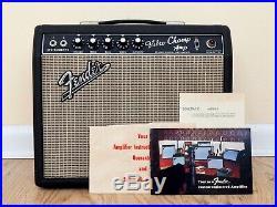 1967 Fender Vibro Champ Vintage Blackface Tube Amp Class A, RCA & Telefunken