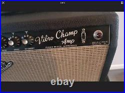 1967 Fender Vibro Champ Vintage Blackface Tube Amp Class A, Serviced fine