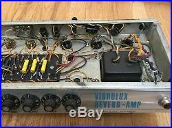 1969 Fender Vibrolux Reverb 35W 2X10 Tube Guitar Combo Amp Vintage