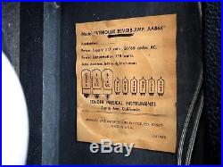1969 Fender Vibrolux Reverb Drip Edge Vintage Tube Amp Blackface AA864 Circuit