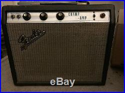 1970 Fender Champ Silverface vintage tube amp Guitar Amplifier FREE SHIPPING