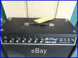 1970s Mitchell Pro-100 Vintage 100 Watt Tube Guitar Amp Head, Boogie Mark I