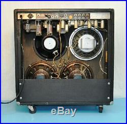 1972 Fender Super Reverb Silverface Amp 45-watt Tube Guitar Amplifier Vintage
