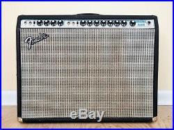 1974 Fender Vibrosonic Reverb Silverface Vintage Tube Amp 1x15 Cerwin Vega, Twin