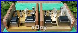 (2) H. H. SCOTT 240 Mono Tube Power Amplifier Amp 1956 / 1957 Vintage Rare