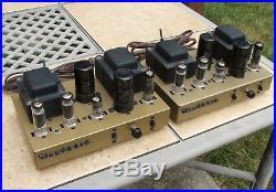 2 Heathkit UA-2 / AA-61 Vacuum Tube Mono Amplifiers Amp Vintage EL84 Restored