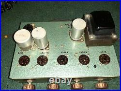 Bogen Tube Amplifier Vintage 1950 Mono-block