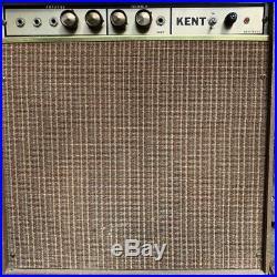 Clean vintage 1960s Kent Gregory Model 5999 Trem-Tone 8 Combo Tube Amp