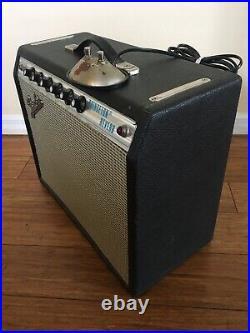 Early 1973 Vintage Fender Princeton Reverb tube amp + footswitch & JBL K110 spkr