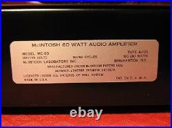 Fantastic Vintage Mcintosh Amp Model Mc60 Mono Block Tube Amplifier Works