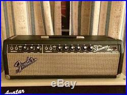 Fender Dual Showman Head 1966 Blackface Vintage Tube Amp Head
