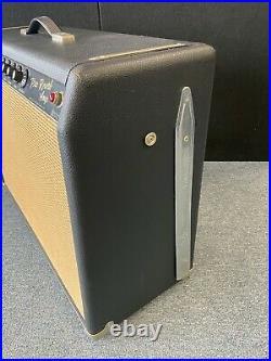 Fender Vintage Pro Reverb Blackface 1966 2x12 Guitar Tube Amplifier Very Clean