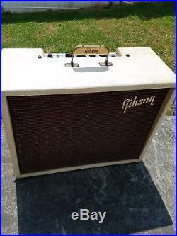 Gibson vintage tube amp, blonde tolex, tremelo